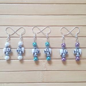 Elephant Earrings (3 Pc. Set)